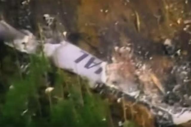 Обломки самолёта JAL 123 Japan Airlines. Кадр youtube.com
